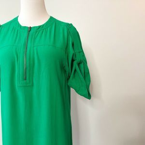 BCBG Max Azria Roll Tab Sleeve Shirt Dress XS